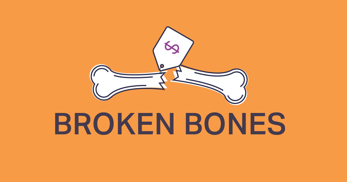 Cost estimates for 21 types of broken bone repairs now on Amino