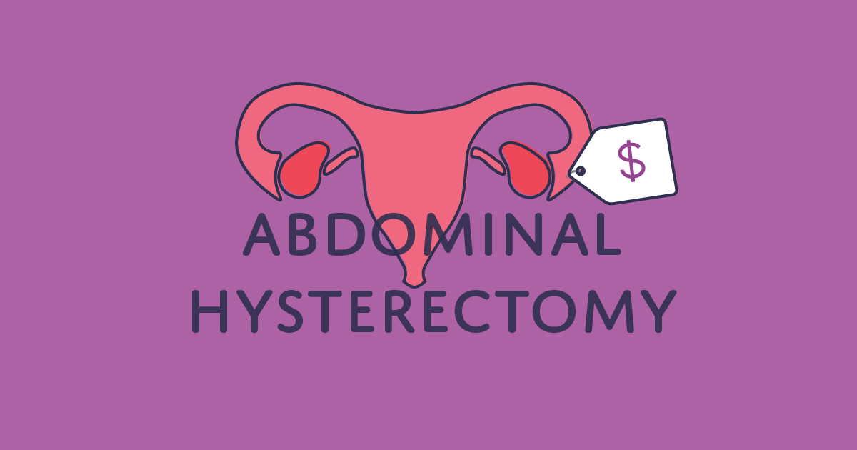 How much does an abdominal hysterectomy cost?
