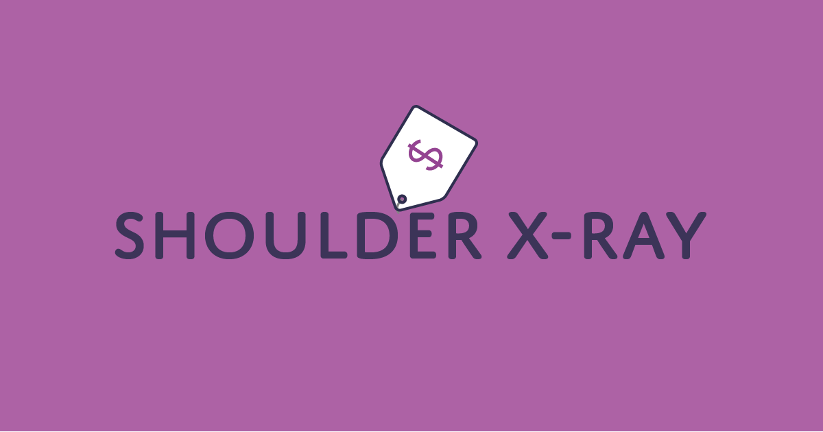 How much does a shoulder X-ray cost?