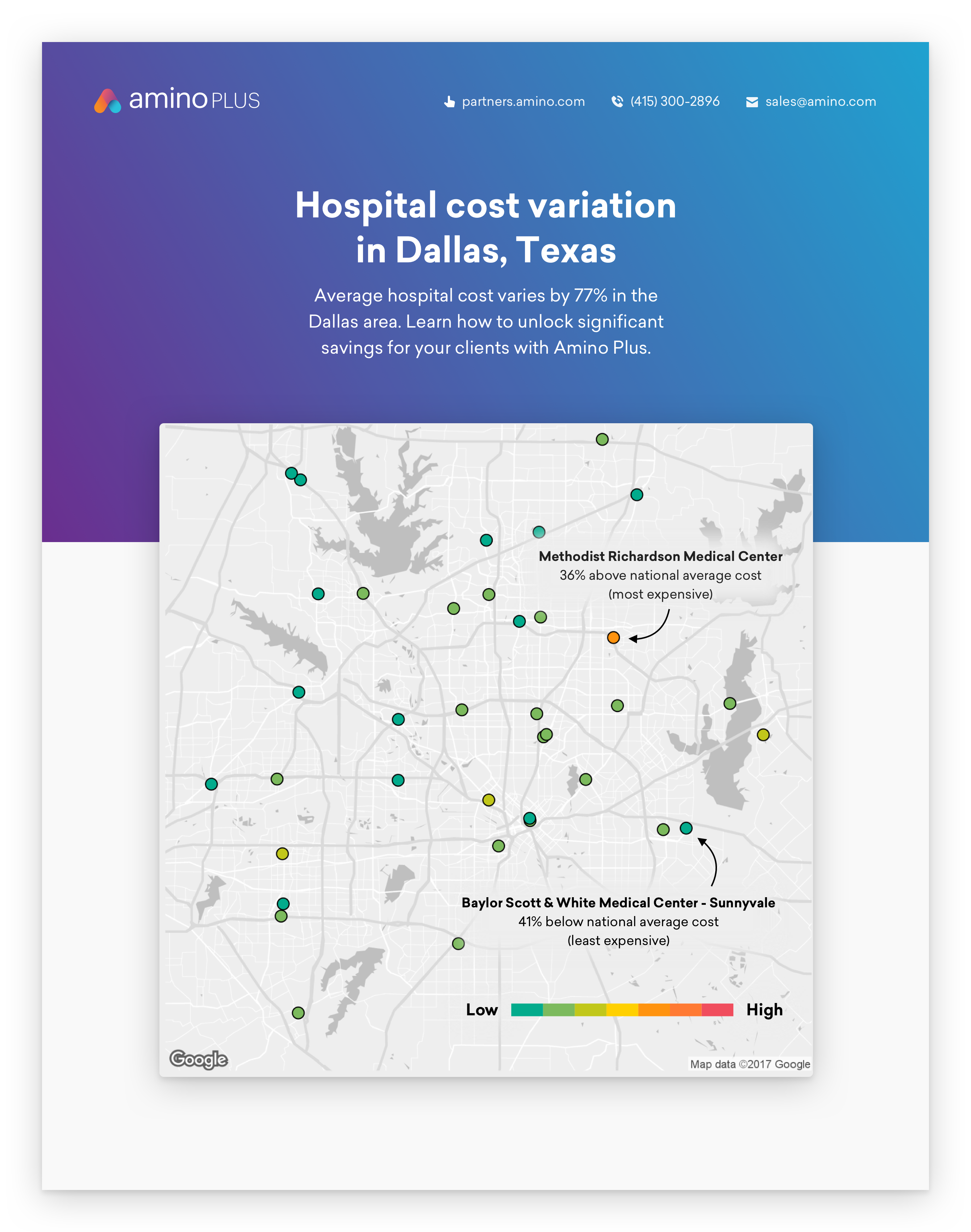 Dallas hospital cost variation white paper