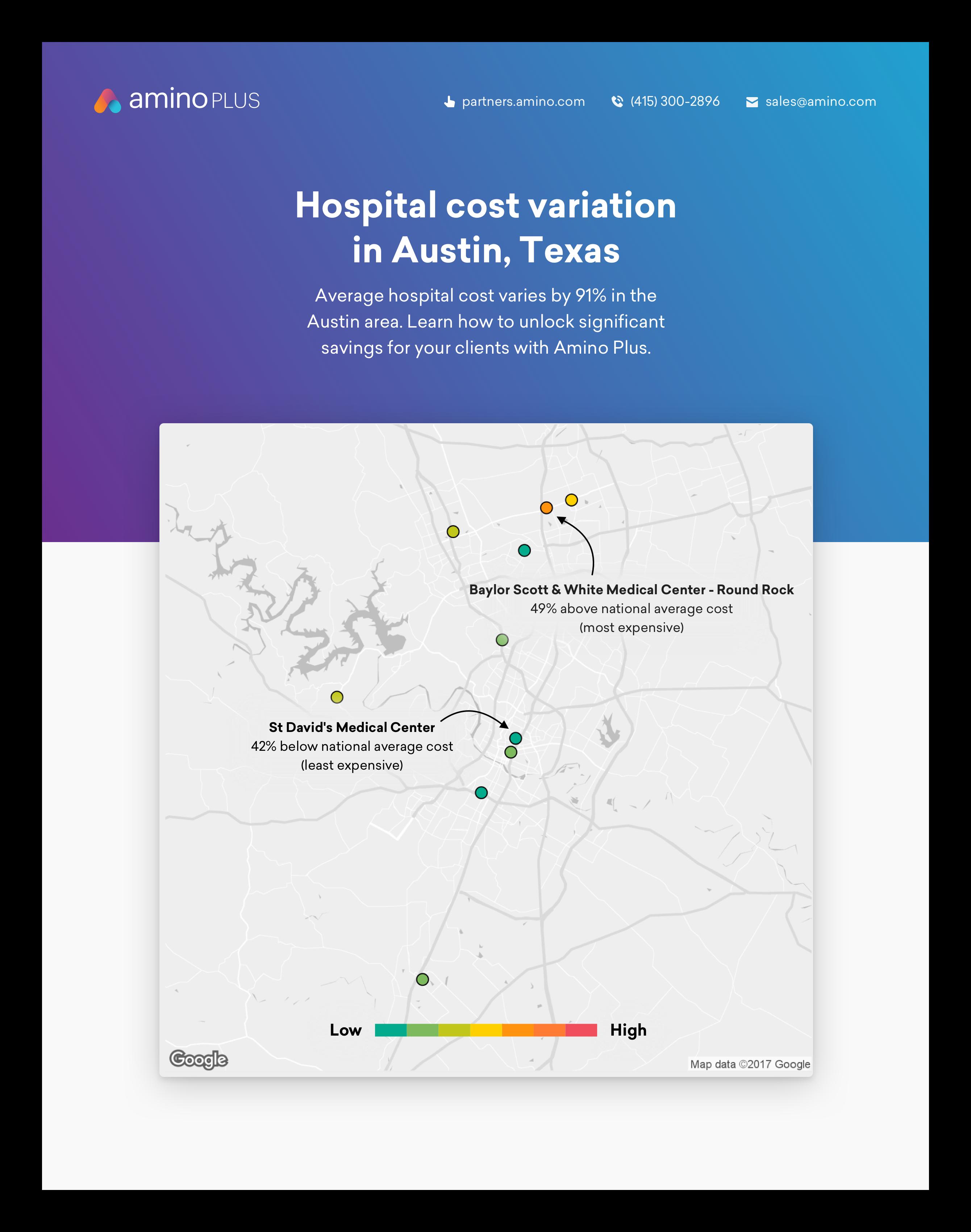 Austin hospital cost variation white paper