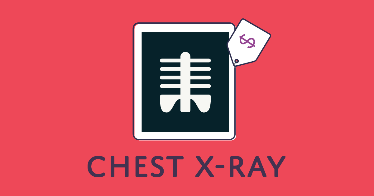 How much does a chest X-ray cost?